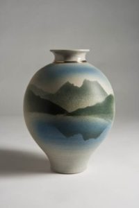 Mountain design vase
